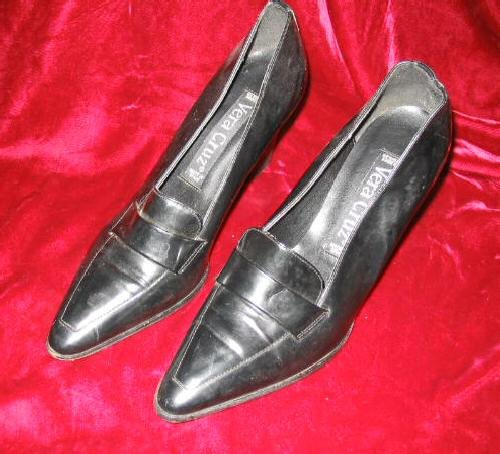 Women's Vera Cruz Black Leather Shoes Pump 8 M