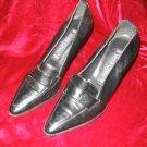 Women's Vera Cruz Black Leather Shoes Pump 8 M