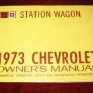 1973 73 Chevy Chevrolet Station Wagon Owners Manual