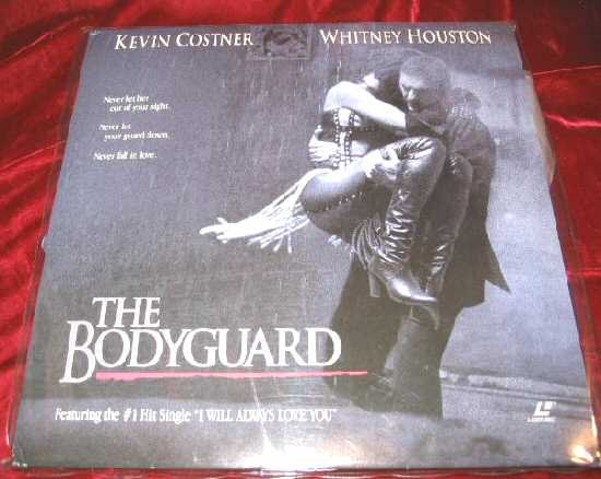 The Bodyguard Laserdisc Kevin Costner Whitney Houston I will Always Love You LD