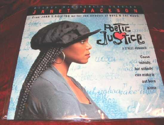 Poetic Justice Janet Jackson Tupac Shakur Laserdisc LD
