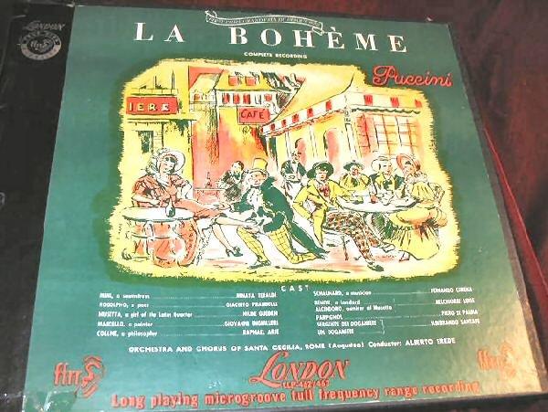 La Boheme Puccini London 2 Vinyl LP Boxset LLP-462 & LLP-463