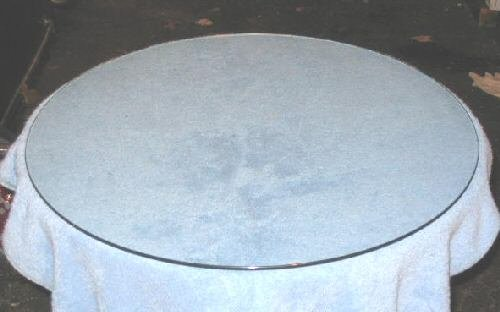 Replacement Glasstop 4 Round Corner Table 23""