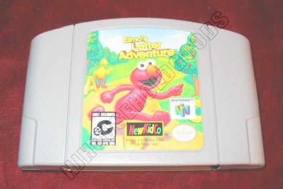 Nintendo 64 N64 Sesame Street Elmo's Letter Adventure