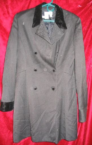 Womens Jeselle Wool Black Business Suit Jacket Coat 12