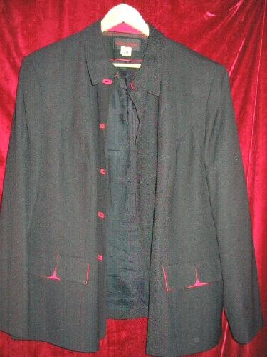 Womens John Meyer Black Suit Jacket Plus Size 24 W Dry Cleaned