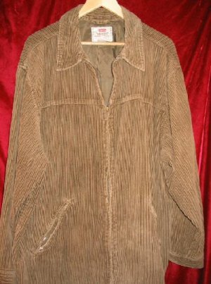 Nice Levis Strauss Brown Jacket Winter Coat 3/4 Length L