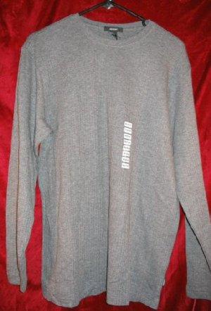 NWT Mens Alfani Gray Crew Shirt Sweater Fleece M