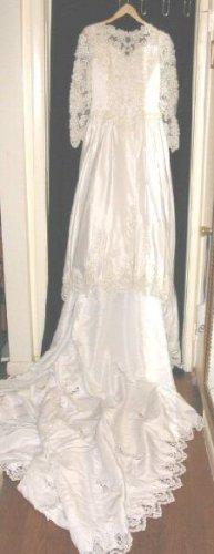 Lady Eleanor Wedding Gown Veil Tiara Train 14 Dry Clean