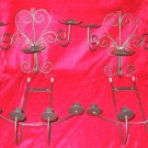 4 Wrought Iron Candle Holder Wall Hanging Pillar Sconce