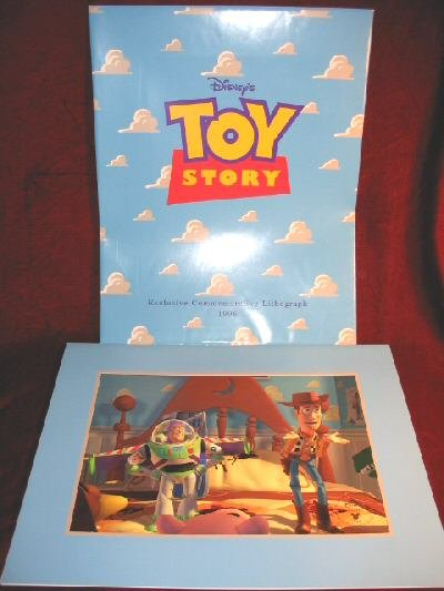 Disney PIXAR TOY STORY 1996 Commemorative Lithograph Framed