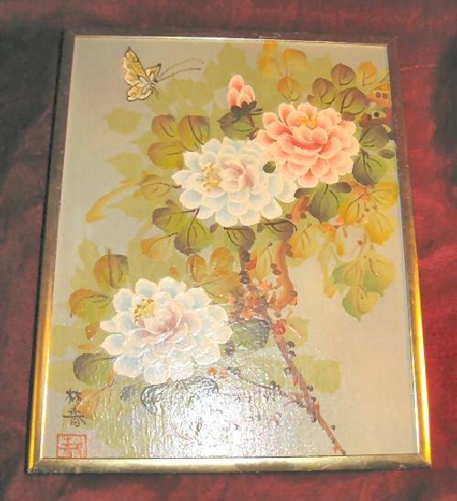 Artistic Interiors Original Oil Painting Flowers Signed
