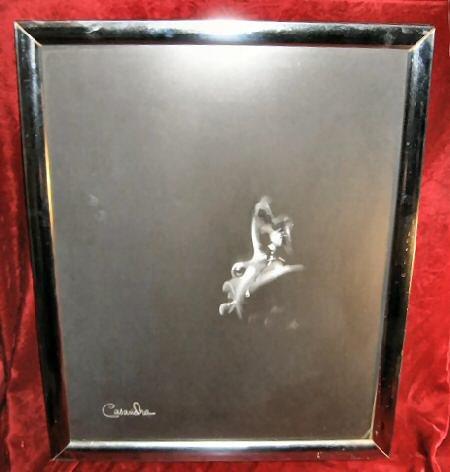 Framed Signed Black & White Print Baby Crying Casandra 22x18