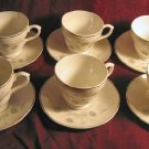 12pc Vintage Mayfair Fine Bone China Saucer Cup England