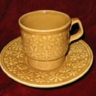 Vintage TAMS Mustard Yellow Cup & Saucer England