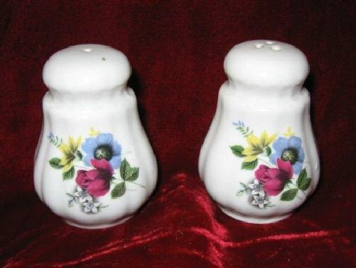 Staffordshire Bone China England Salt & Pepper Shakers