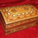Handcfafted Walnut  Inlaid Trinket wooden Jewelry Box