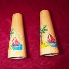 Cute Vintage wooden Salt & Pepper Shaker Set Pine