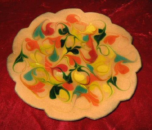 Vintage Decorative Plate Glaze Vera Welch 1971