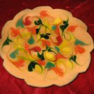 Vintage Decorative Plate Glaze Vera Welch 1971