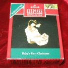 1990 Hallmark Keepsake Ornament Baby's First Christmas QXM570-3