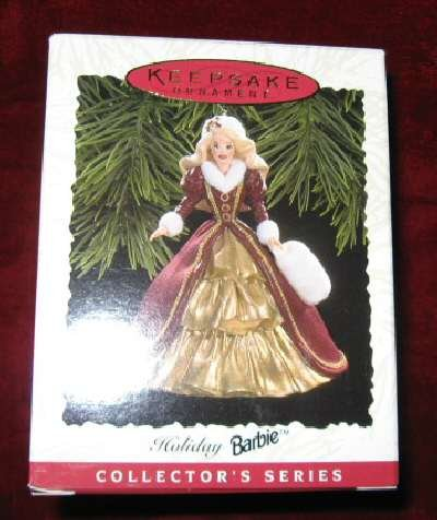 1996 Hallmark Ornament #4 Holiday Barbie QXI5371