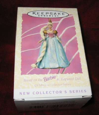 1997 Hallmark Barbie #1 Ornament Rapunzel Doll QEO8635