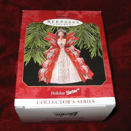 1997 Hallmark Keepsak Ornament 5 Holiday Barbie QXI6212