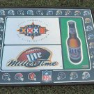 1998 Miller Lite Super Bowl XXXII Mirror Sign Ad  28x22