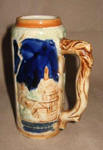 Vintage JAPAN Pioneer Ceramic Mini German Style Beer Stein Mug Cup