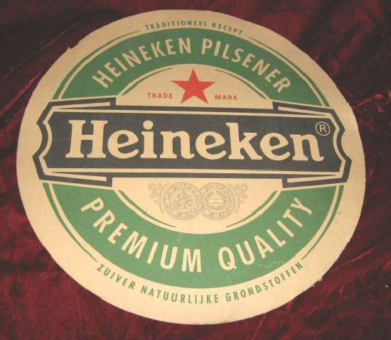 Vintage Rare Heineken Pilsener Beer Sign Bar Tray Liner