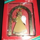 Forget me not Merry Christmas Daughter Ornament 18KGold