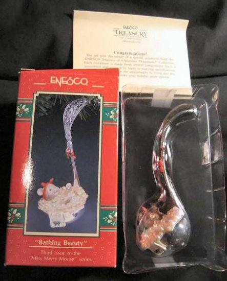 Enesco Ornament Bathing Beauty Miss Merry Mouse 3rd
