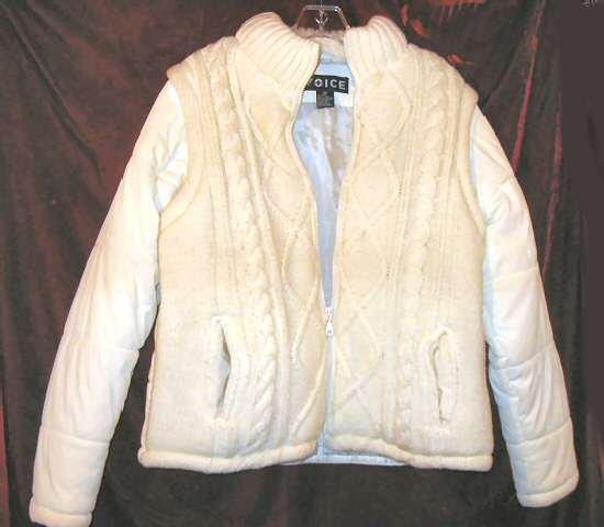 Lady's Womens Voice White Winter Jacket Coat M