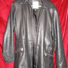 Lady's Womens Avanti Black Leather Jacket Coat M $330