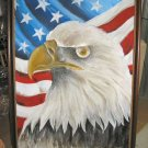 "American Eagle Acrylic Canvas Painting 40""x52"" Signed Frank Walcutt"