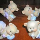Retired Home Interiors Kids Bouncing Baby Bears Set 3