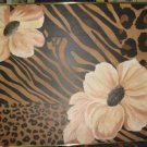 Tait Painting on Canvas Flowers Brass Framed Signed