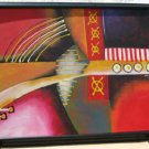 Frank Walcutt Tic Tac Toe Painting Canvas Framed Signed 41x53