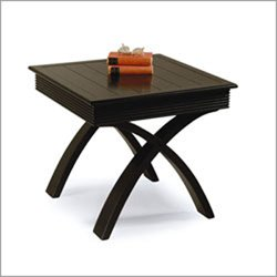 NEW Magnussen Lovina Bali Black Solid Square End Table