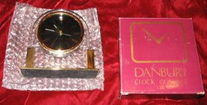 GOLD Plated Danbury Mantle Clock German Movement Quartz