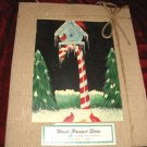 Evergreen Artist Pallette Hand Painted Slate Plaque Cardinals