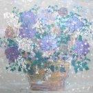 Original Floral Oil Painting Canvas Ornate Framed Sgined 48x33