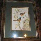 """Birds & Nest Art Print Matted & Framed 10""""x12"""""""