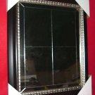 New Antique Window Pane Mirror Blk & Pewter Frame 29x35