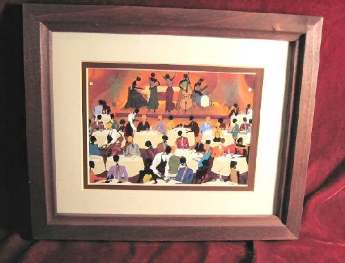 Leroy Campbell No Man's Band Bops at Mintons Print framed
