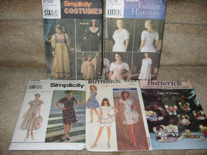 5 Vintage Butterick Simplicity Craft Dress Sewing Pattern