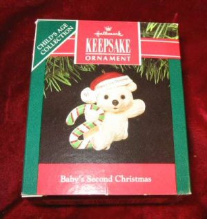 1991 Hallmark Keepsake Ornament Baby's Second Christmas QX4897