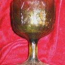 1975 FTD Footed Stemmed Green Depression Glass Bowl