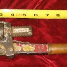 "Vintage 14"" Champion DeArment Pipe Wrench Meadville PA Wood Handle"